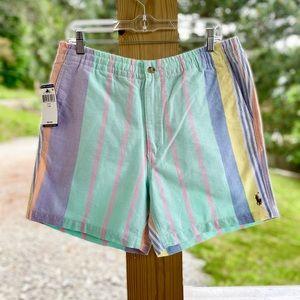NWT Polo Ralph Lauren Pastel Striped Elastic Short